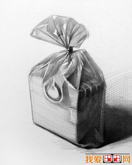 生活常见物品静物素描作品欣赏(5)