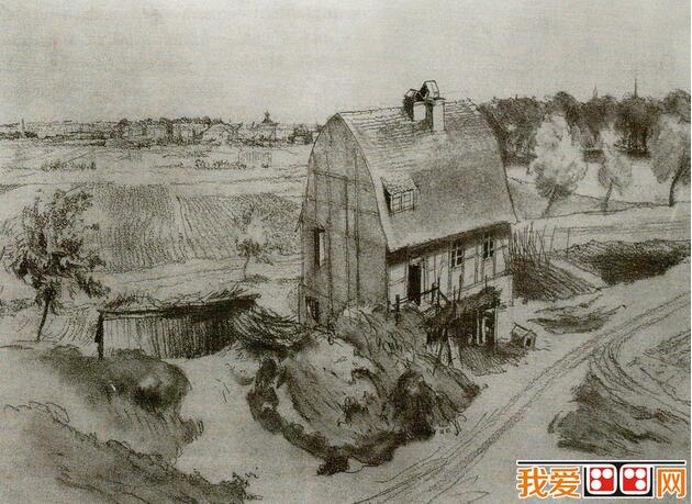 唯美景物铅笔画-也可以算作素描;中国传统的白描和   水墨画   也可以称之为素描.素