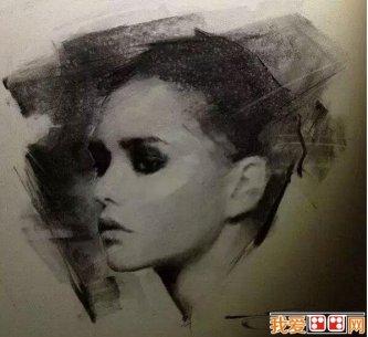 美国艺术家迈克尔.zuga人物头像素描作品欣赏