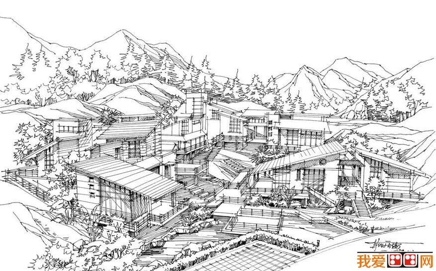 钢笔速写建筑风景作品赏析(2)