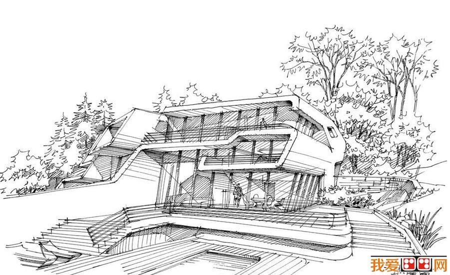 钢笔速写建筑风景作品赏析(3)