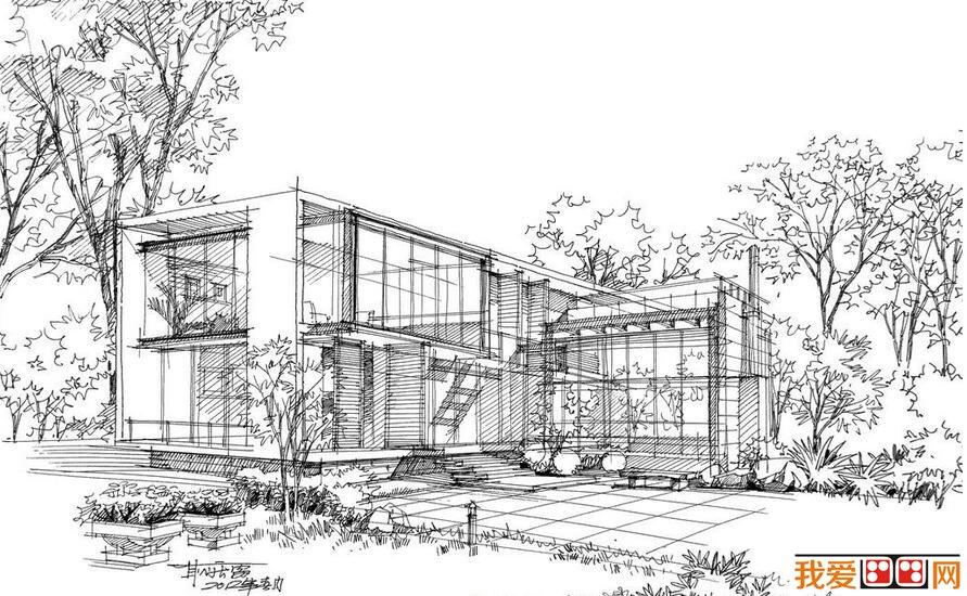 钢笔速写建筑风景作品赏析 6图片