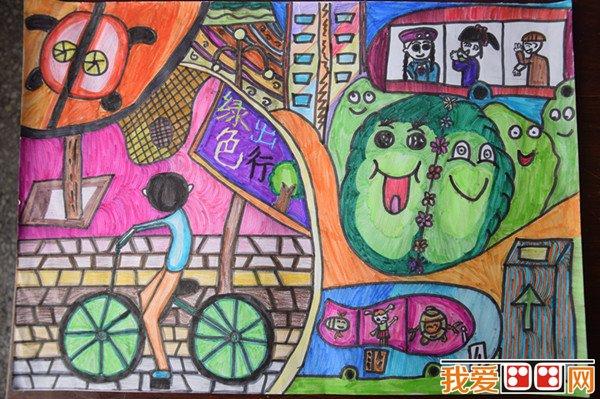 """""""童绘蓝天""""全国中小学生环保绘画大赛优秀作品"""