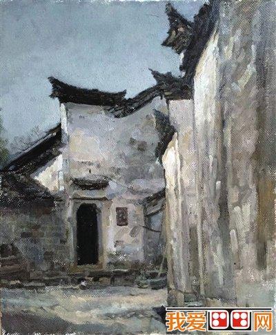 宁夏大学查济风景油画写生作品欣赏图片