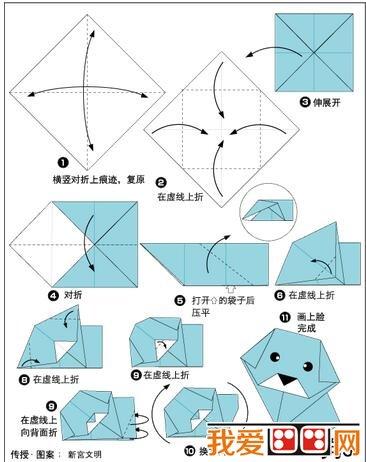 例如教学 折纸《裤子》,《狗》时,  教师先教幼儿折叠好小裤子
