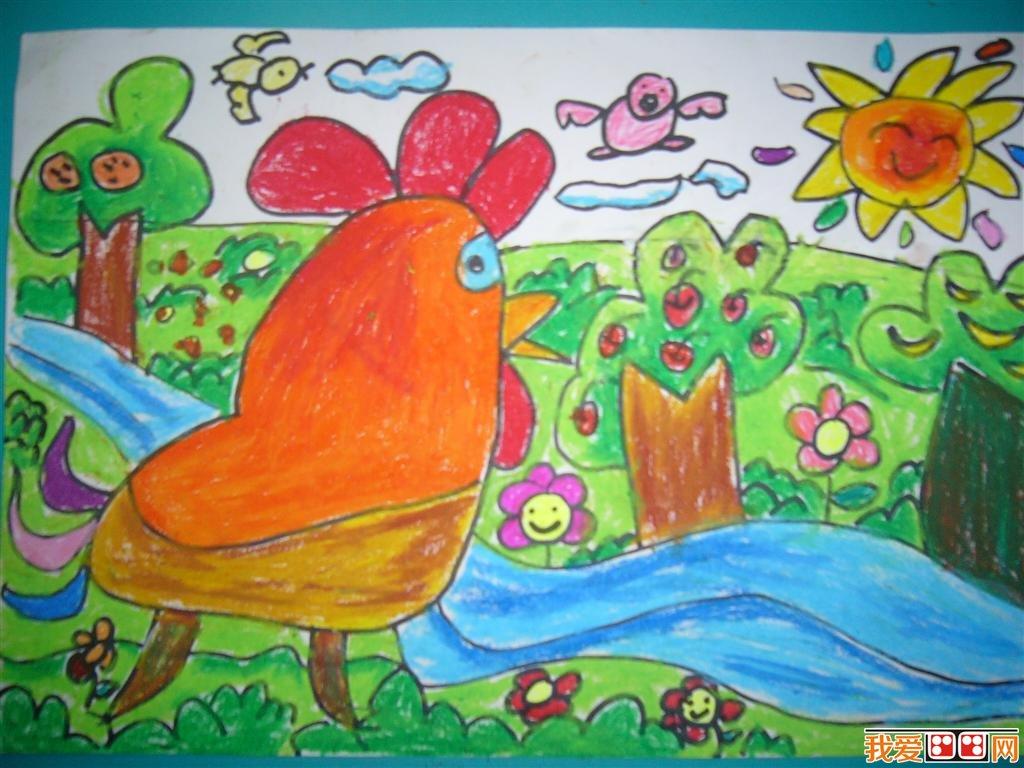 """画""""海底世界""""时,可引导幼儿自选三种固定的颜色涂各种鱼的花纹,那么整"""