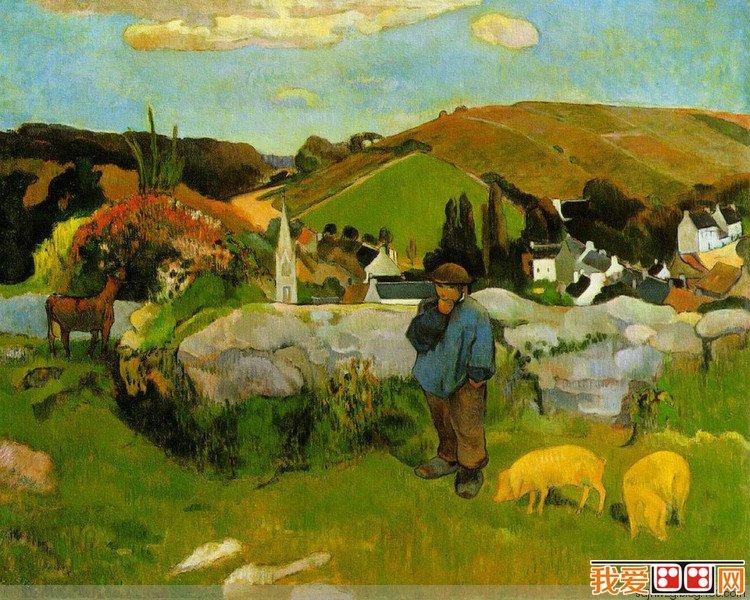 法国画家保罗·高更著名人物油画作品赏析