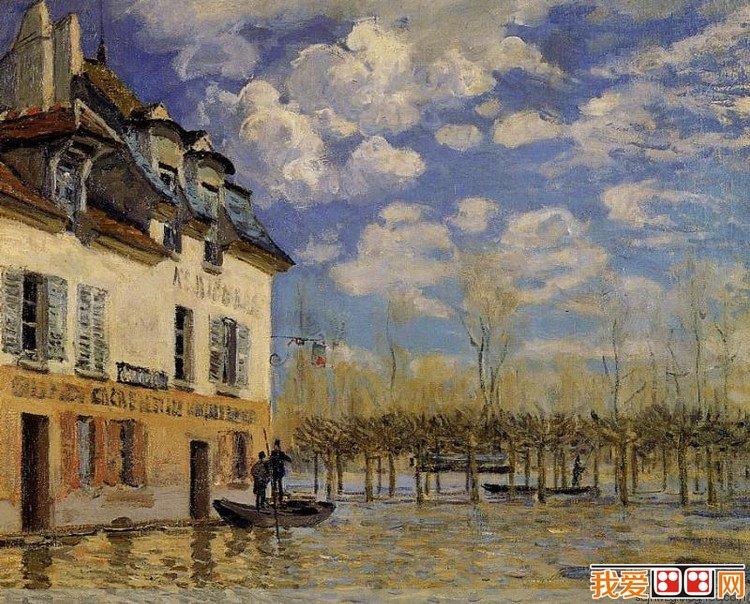 法国画家艾尔弗雷德·西斯莱风景油画作品赏析(5)