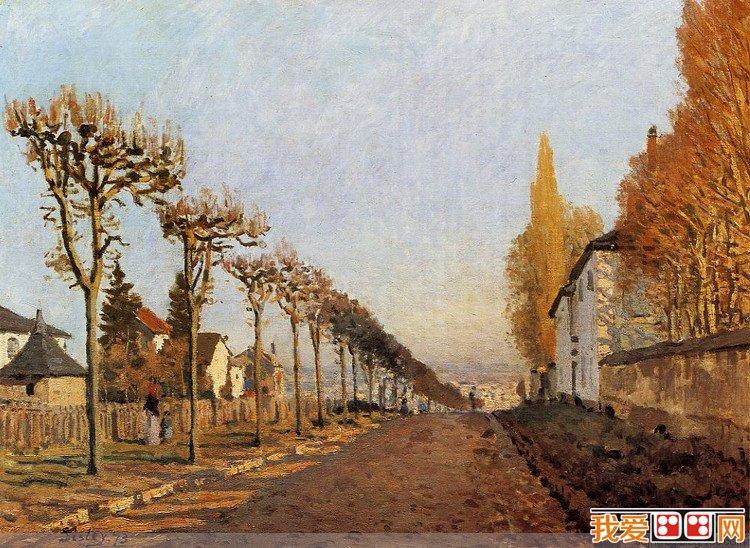 法国画家艾尔弗雷德·西斯莱风景油画作品赏析(6)