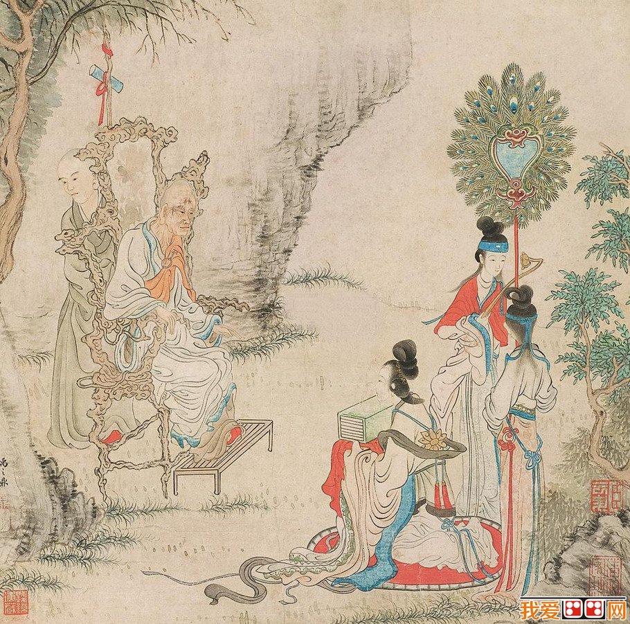 百科 中国名画 人物画 > 清朝国画禹之鼎绘画作品欣赏         禹之鼎