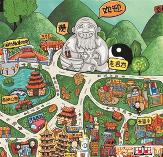 """""""萌萌哒""""手绘地图成游客新宠"""