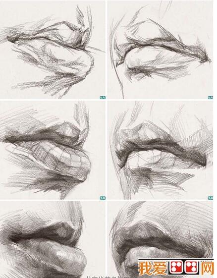 学画画 素描教程 素描头像 > 素描嘴巴的绘画教程(4)             嘴