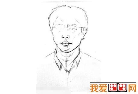 素描戴眼镜的男人的绘画步骤