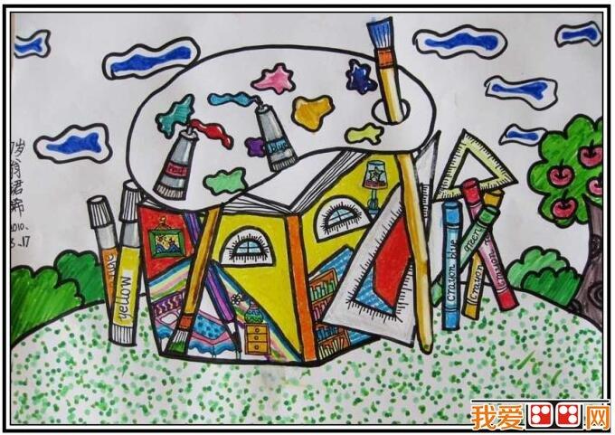 优秀创意儿童水彩画作品欣赏 2