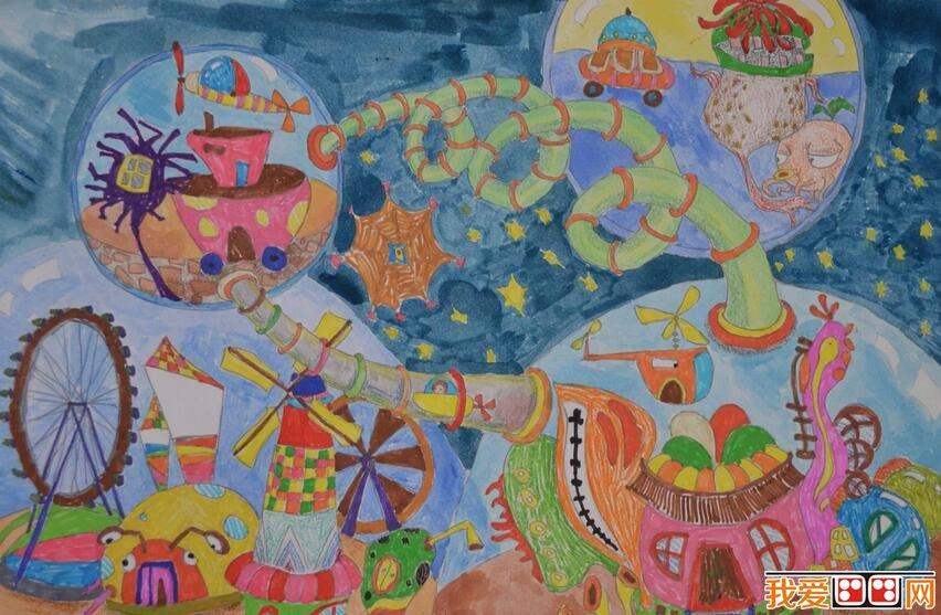 优秀创意儿童水彩画作品欣赏 3