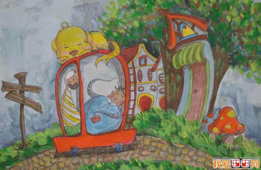 优秀创意儿童水彩画作品欣赏 4