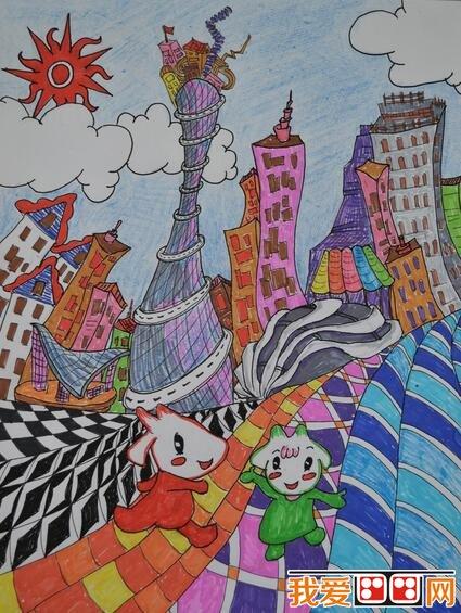 优秀创意儿童水彩画作品欣赏 6