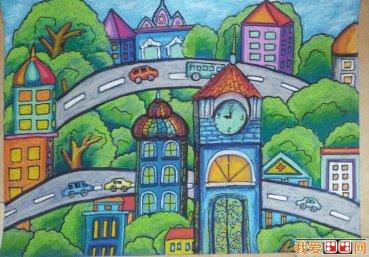 房屋儿童画优秀作品欣赏