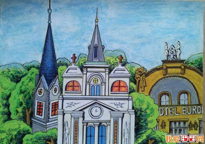 房屋儿童画优秀作品欣赏(2)_儿童画教程_学画画_我爱