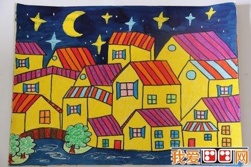 房屋儿童画优秀作品欣赏 5