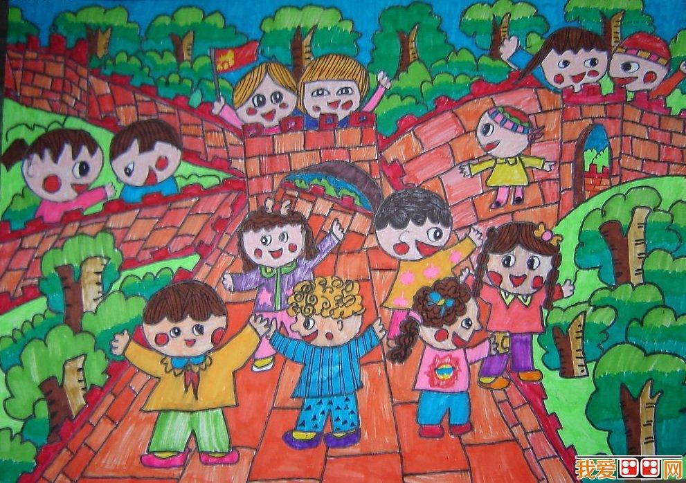 春游优秀儿童水彩画作品欣赏 3