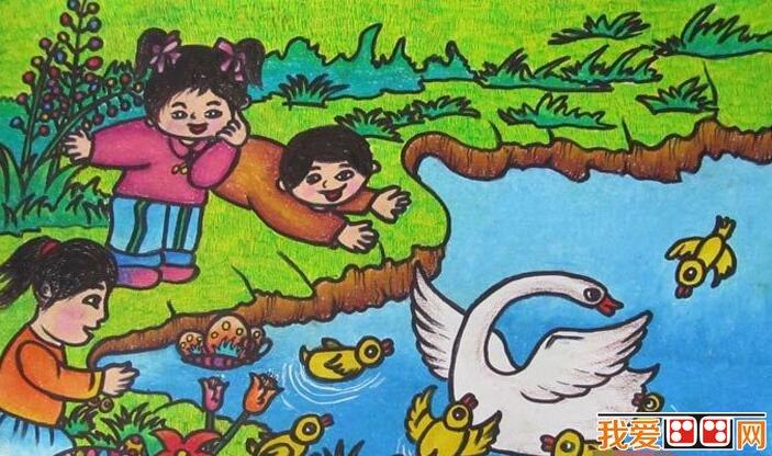 优秀儿童画春天景色的作品欣赏