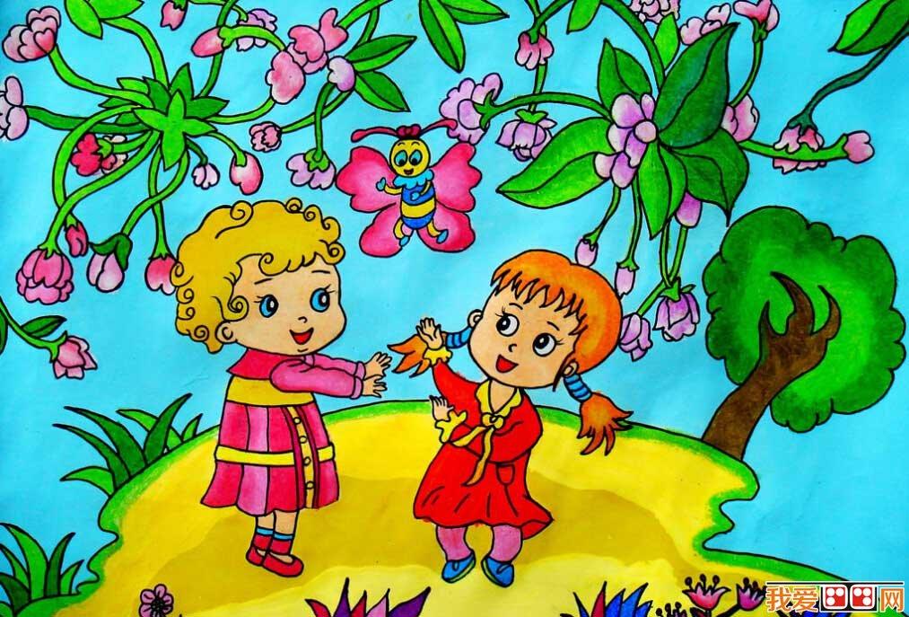 优秀儿童画春天景色的作品欣赏 3