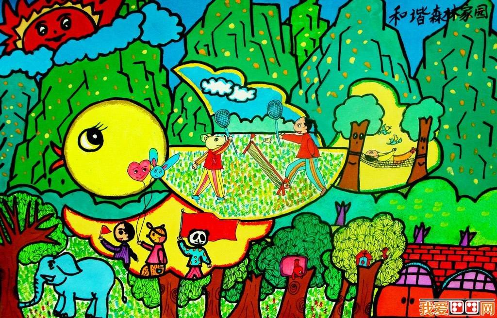 优秀儿童画春天景色的作品欣赏 5