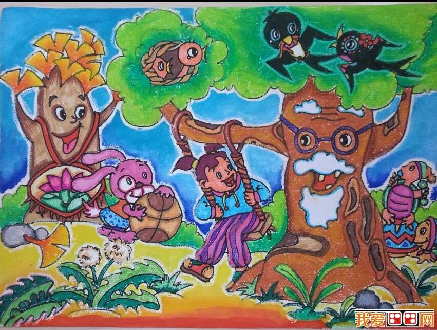 优秀儿童画春天景色的作品欣赏(6)
