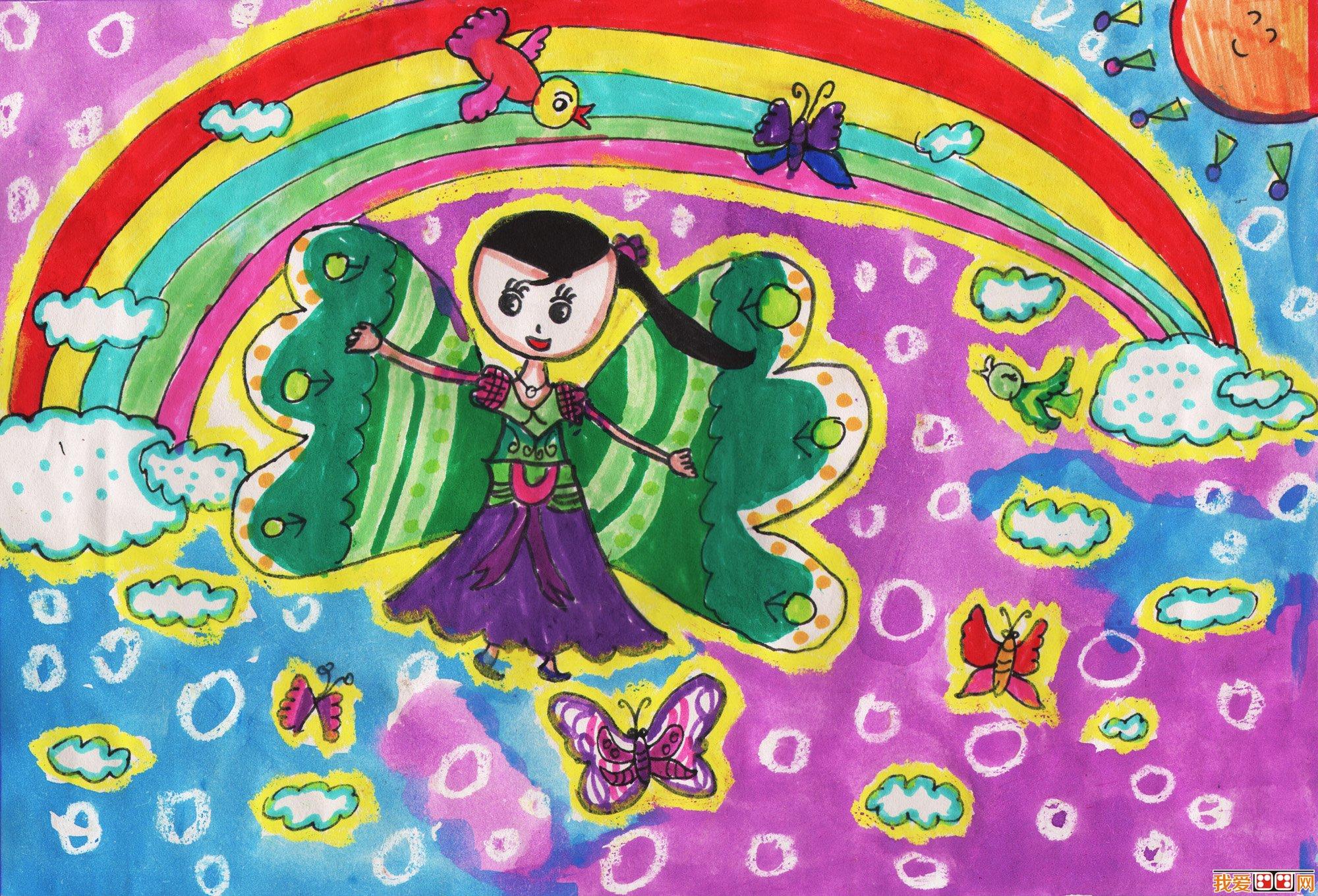 美丽的彩虹儿童画作品欣赏(2)_儿童画教程_学画画_我