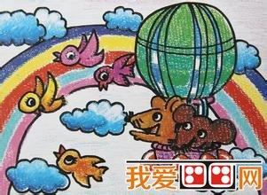 美丽的彩虹儿童画作品欣赏 3