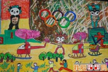 儿童水粉画运动会作品欣赏