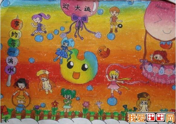 儿童水粉画运动会作品欣赏 2