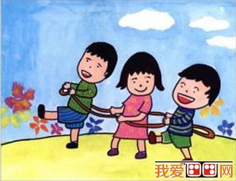 儿童水粉画运动会作品欣赏 5
