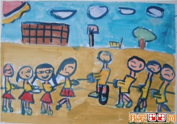 儿童水粉画运动会作品欣赏 6