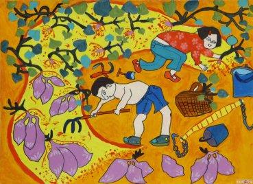 儿童水粉画花朵图片欣赏(2)