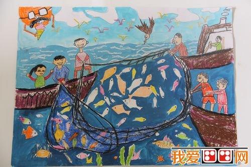 劳动节儿童水粉画作品欣赏(2)