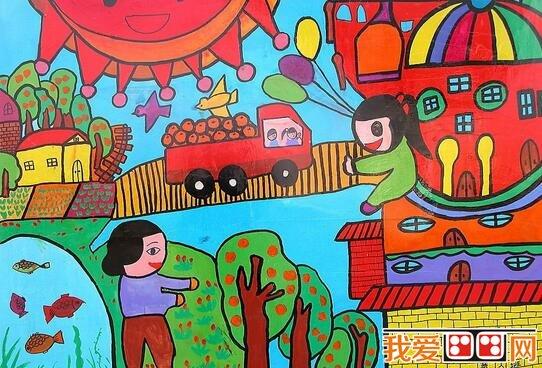 劳动节儿童水粉画作品欣赏 3