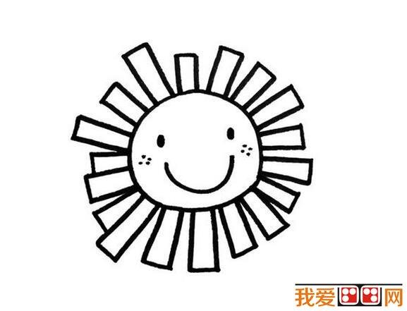 下面来看看可爱的太阳公公简笔画作品大全.