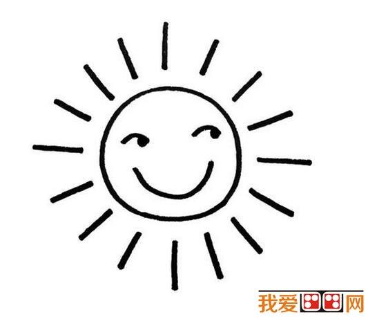 小学生太阳公公简笔画作品图片大全(2)