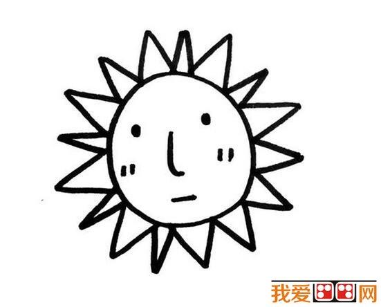 太阳公公简笔画作品大全