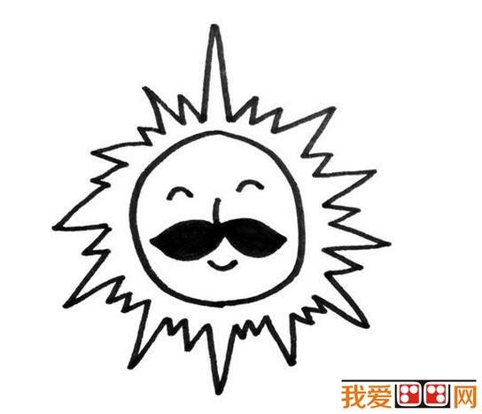 小学生太阳公公简笔画作品图片大全(3)