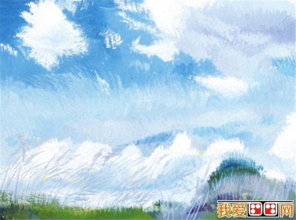水彩天空的色调