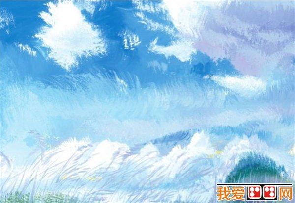 水粉天空的绘画步骤