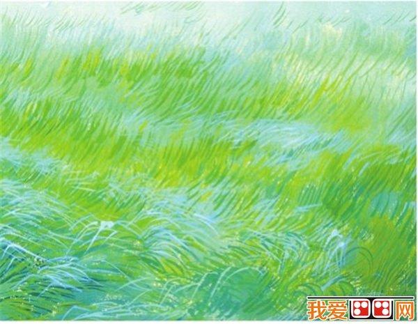 儿童水彩画草地的绘画技法教程(2)_儿童画教程_学画画