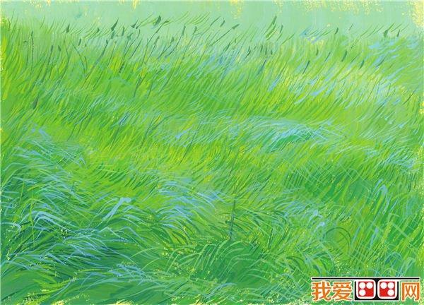 儿童水彩画草地的绘画技法教程(3)