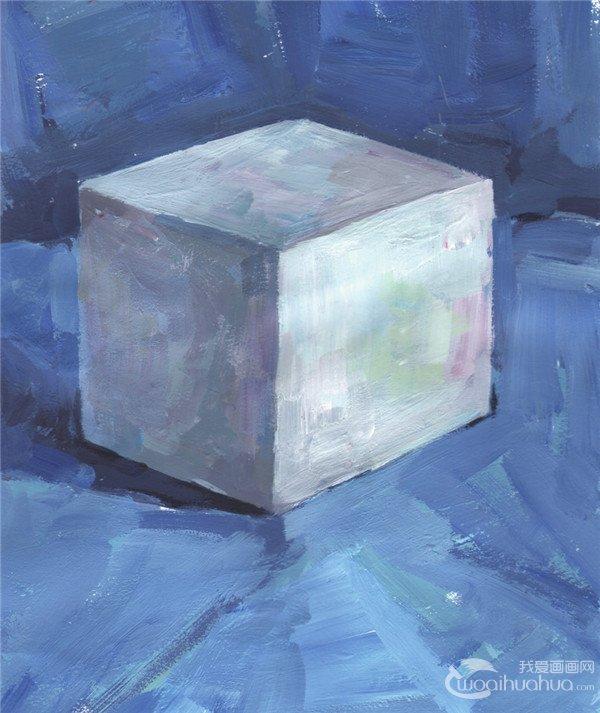水粉立方体和十字椎的绘画步骤(3)