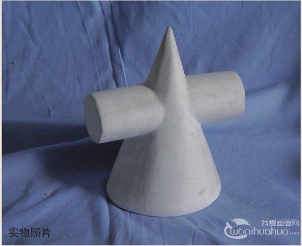 水粉立方体和十字椎的绘画步骤(4)