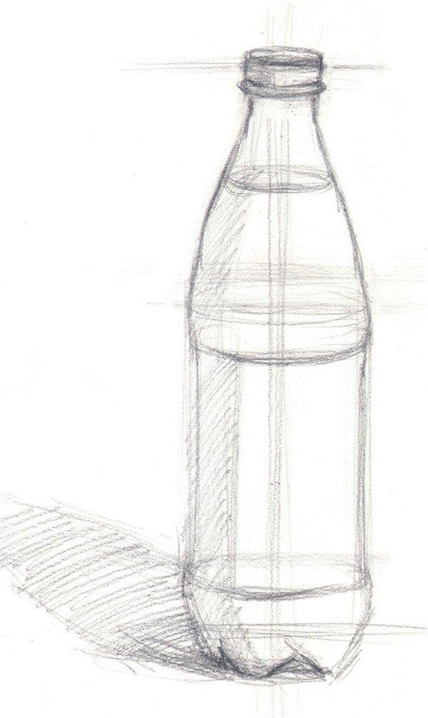 水粉汽水瓶的绘画步骤