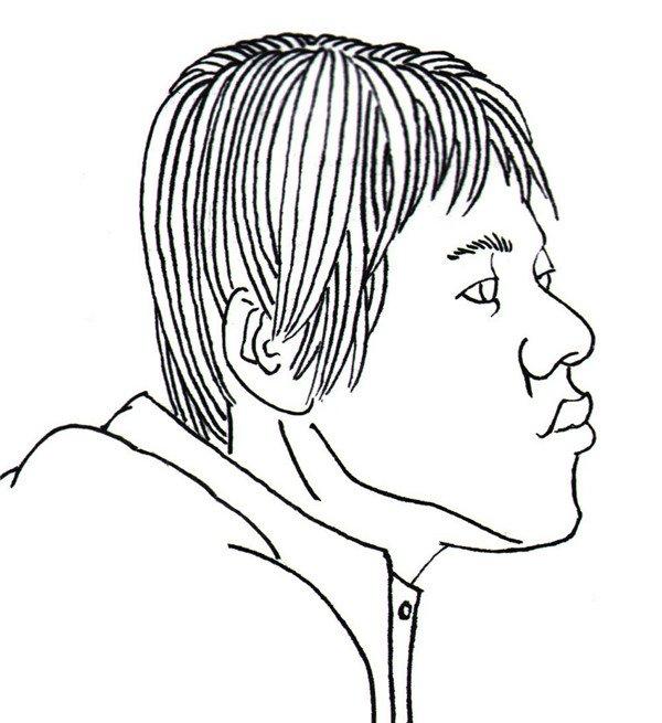 白描长发女孩头部 在掌握人物速写后,调整画面线条,用线条画人物的